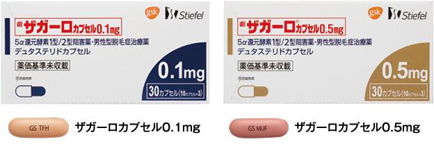 AGA治療薬 アボルブ・ザガーロ(成分:デュタステリド